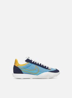 Nike - WMNS Waffle Racer 2X, Blackened Blue/University Gold
