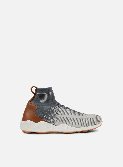 sneakers nike zoom mercurial xi flyknit dark grey pale grey