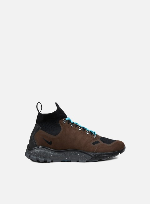 sneakers nike zoom talaria mid flyknit baroque brown gamma blue black