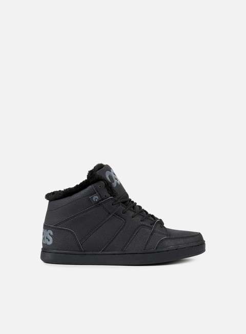 sneakers osiris convoy mid shr black black
