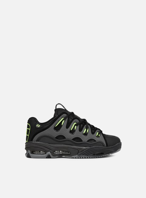 sneakers osiris d3 2001 black green charcoal