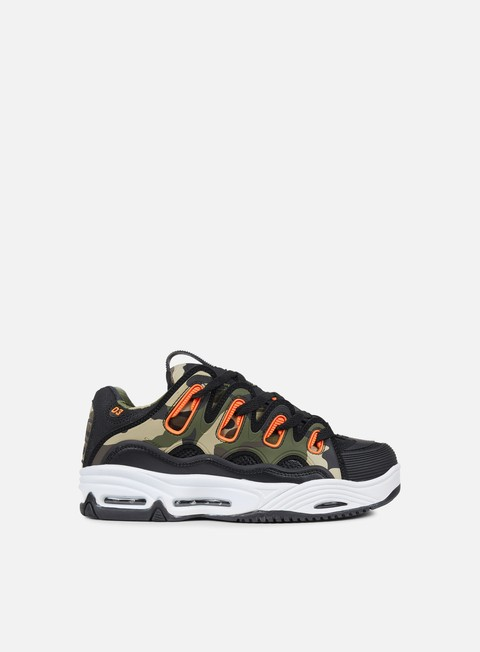 sneakers osiris d3 2001 black orange camo