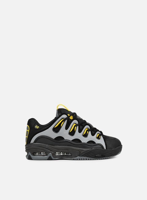 sneakers osiris d3 2001 black yellow charcoal
