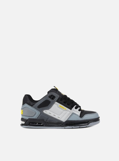 sneakers osiris peril charcoal black yellow