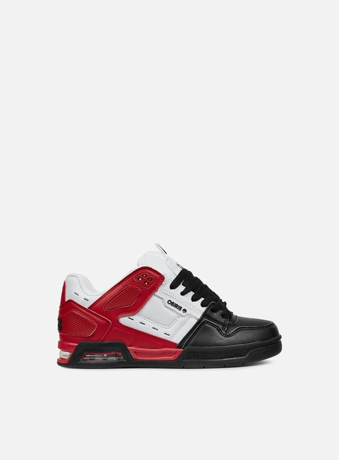 sneakers osiris peril red white