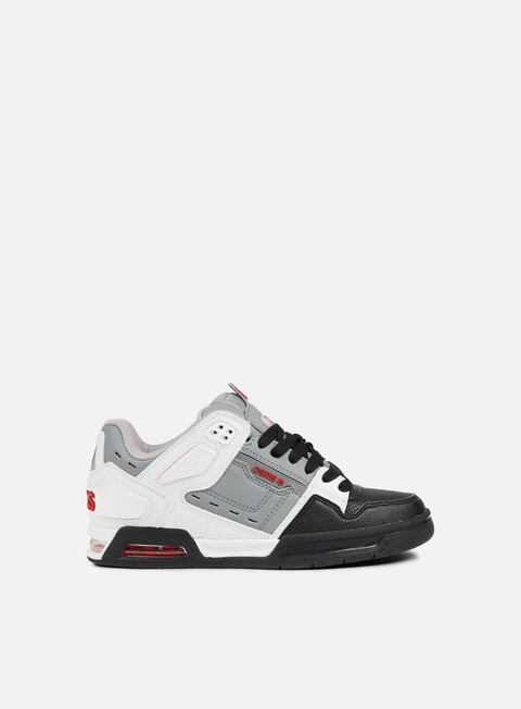 sneakers osiris peril white grey red