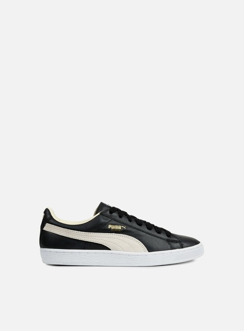 sneakers puma basket classic black white