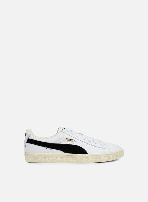 sneakers puma basket classic white black