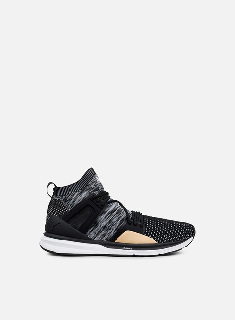 sneakers puma bog limitless hi evoknit black black white