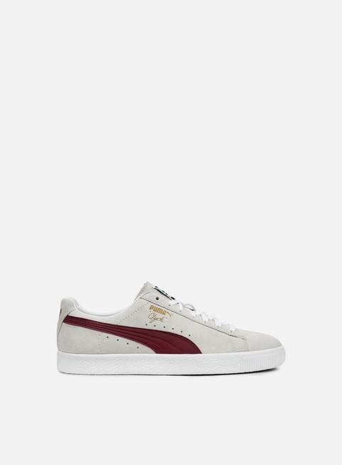 sneakers puma clyde premium core puma white cabernet