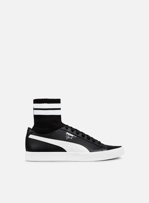 sneakers puma clyde sock nyc puma black puma white