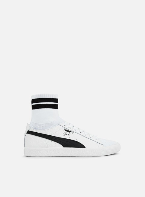 sneakers puma clyde sock nyc puma white puma black