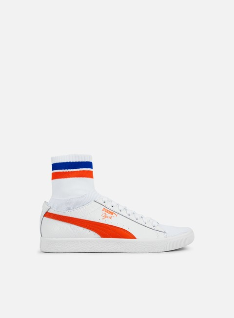 sneakers puma clyde sock nyc puma white scarlet ibis puma white