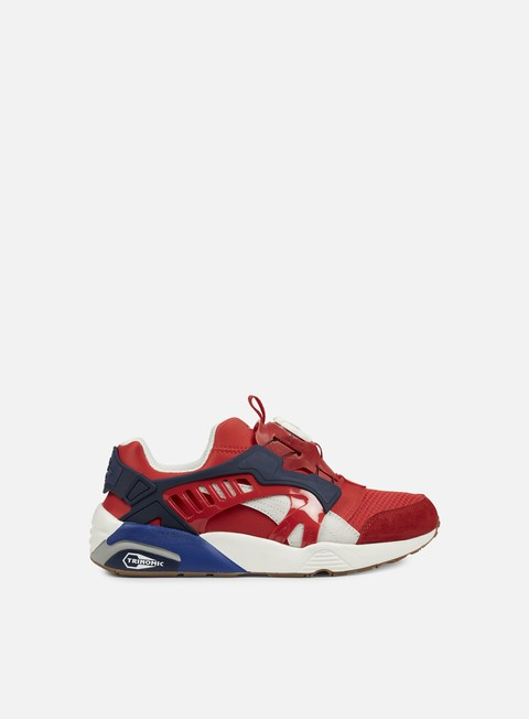 sneakers puma disc blaze athletic high risk red star white