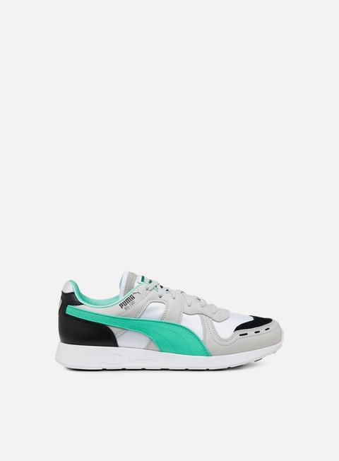 sneakers puma rs 100 re invention gray violet biscay green white
