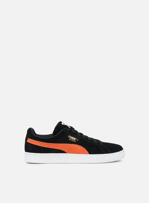 sneakers puma suede classic black firecracker white