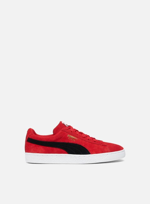 sneakers puma suede classic ribbon red puma black puma white