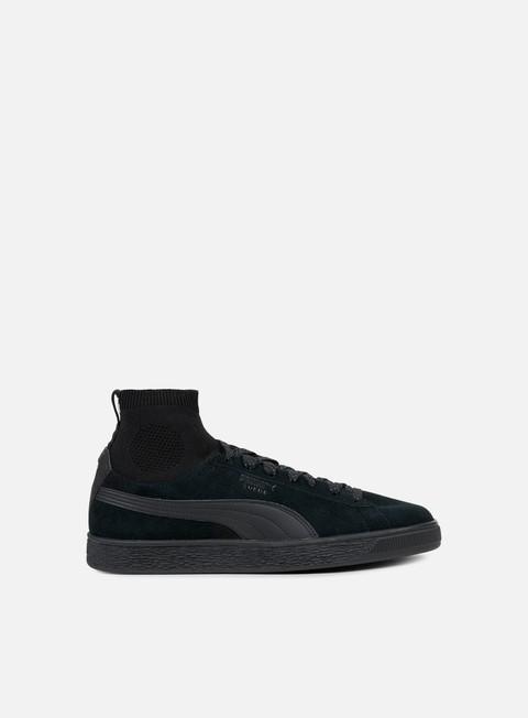 sneakers puma suede classic sock puma black puma black