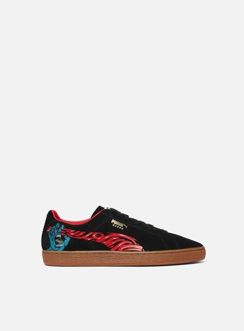 sneakers puma suede classic x santa cruz black high risk red