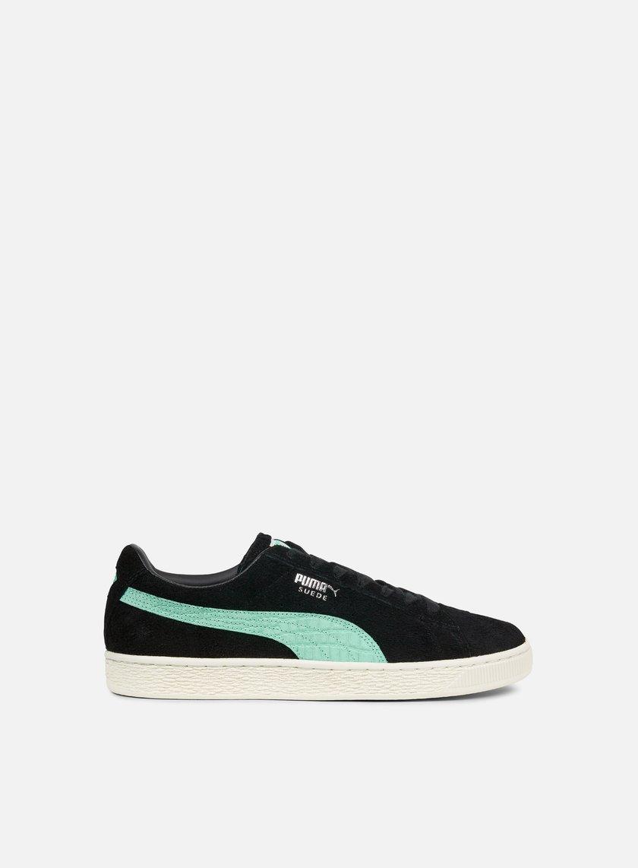 Puma Suede DIAMOND shoes black turquoise