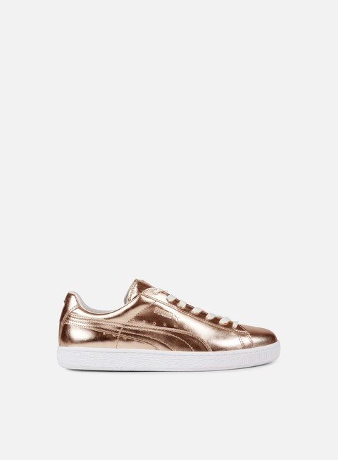 sneakers puma wmns basket creepers metallic rose porcelain rose white