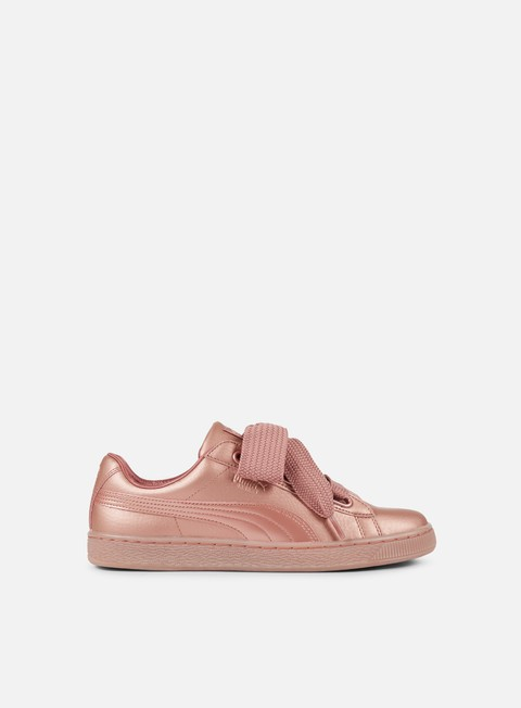 sneakers puma wmns basket heart copper copper rose