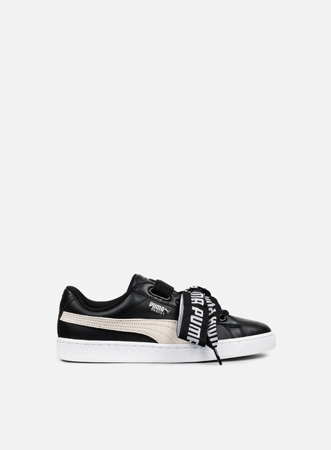 sneakers puma wmns basket heart de puma black puma white