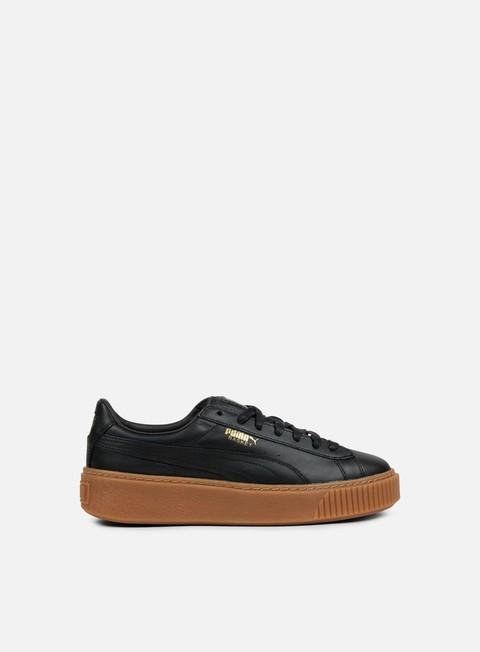 sneakers puma wmns basket platform core puma black puma black