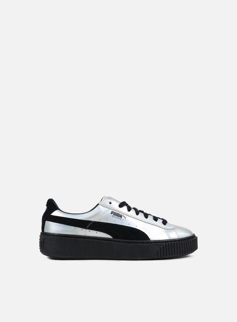 puma basket platform explosive donna sneaker nero