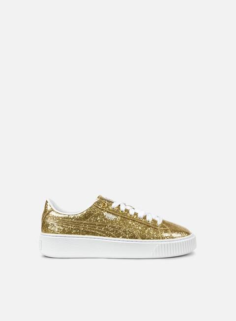 sneakers puma wmns basket platform glitter gold gold