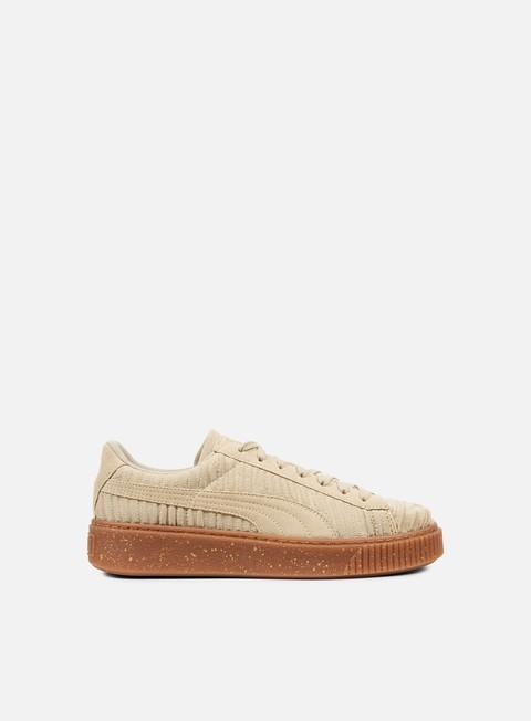 sneakers puma wmns basket platform ow safari safari whisper white