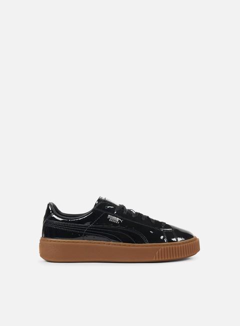 sneakers puma wmns basket platform patent puma black silver