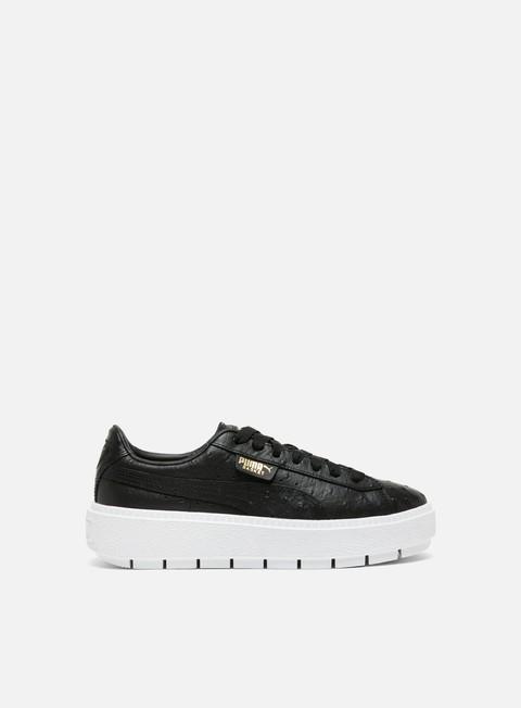 sneakers puma wmns platform trace ostrich puma black puma black