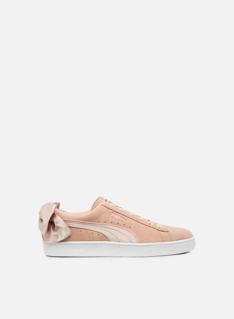 sneakers puma wmns suede bow valentine cream tan puma white