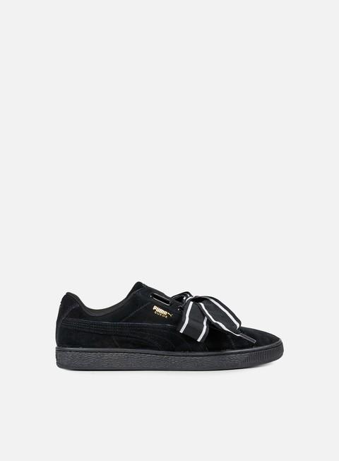 sneakers puma wmns suede heart satin ii puma black puma black