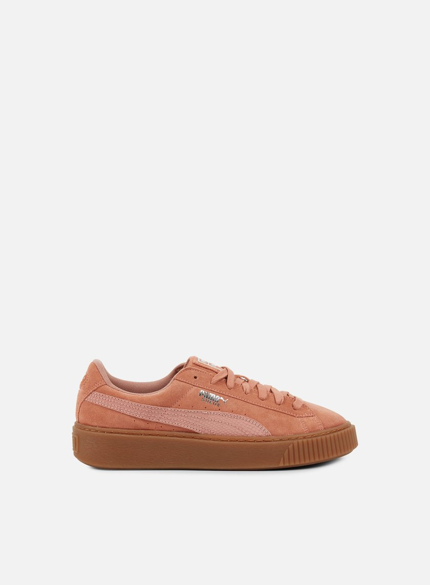 PUMA SUEDE PLATFORM ANIMAL CAMEO BROWN SILVER 365109