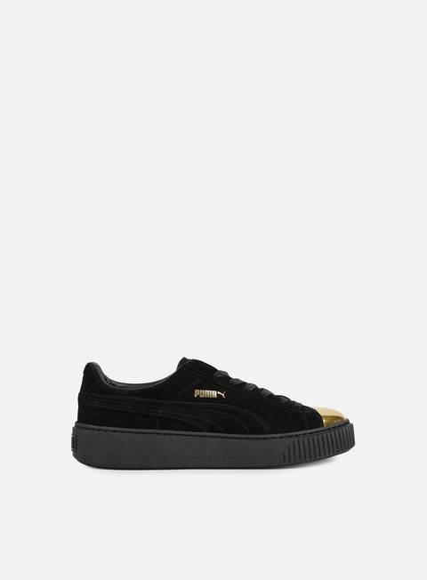 sneakers puma wmns suede platform gold gold puma black puma black