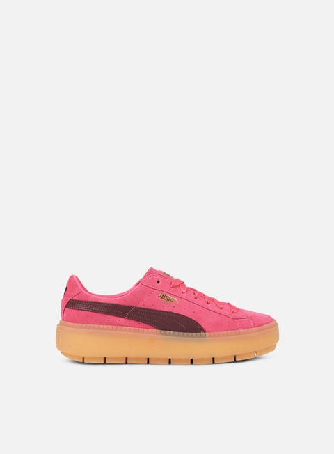 sneakers puma wmns suede platform trace block carmine rose winetasting
