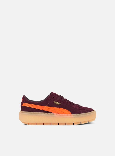 sneakers puma wmns suede platform trace block winetasting flame