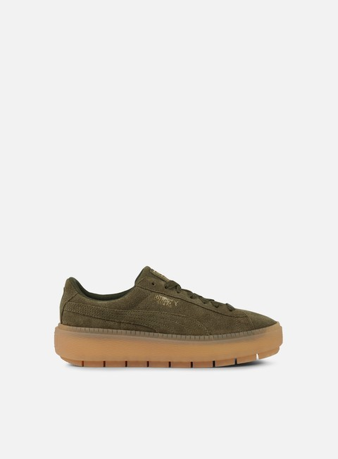 sneakers puma wmns suede platform trace olive night