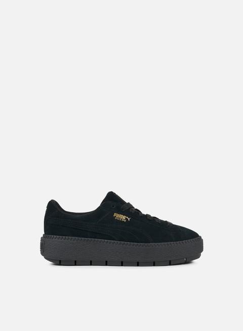 sneakers puma wmns suede platform trace puma black puma black