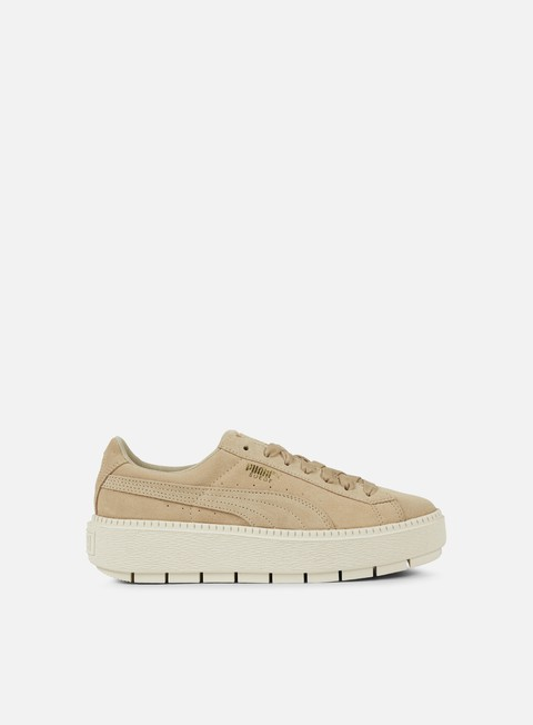sneakers puma wmns suede platform trace safari marshmallow