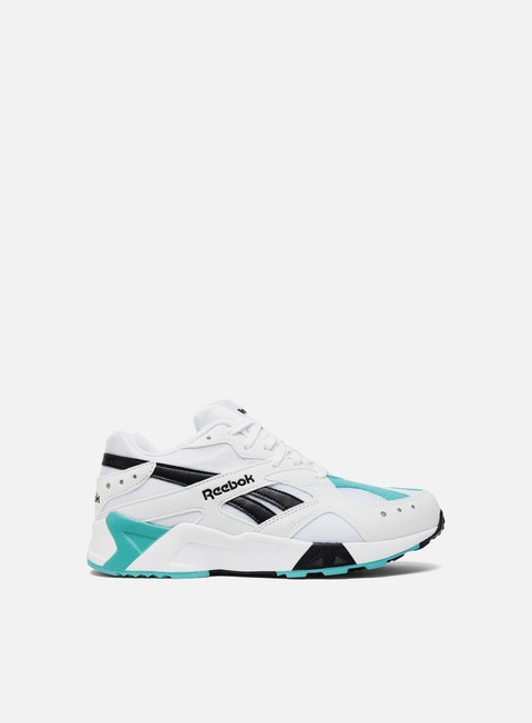 sneakers reebok aztrek white solid teal black