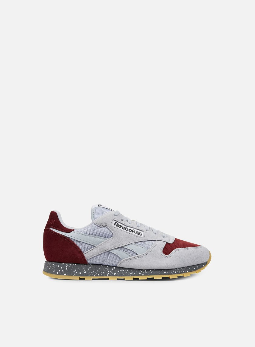Reebok - Classic Leather SM, Cloud Grey/Merlot/Alloy