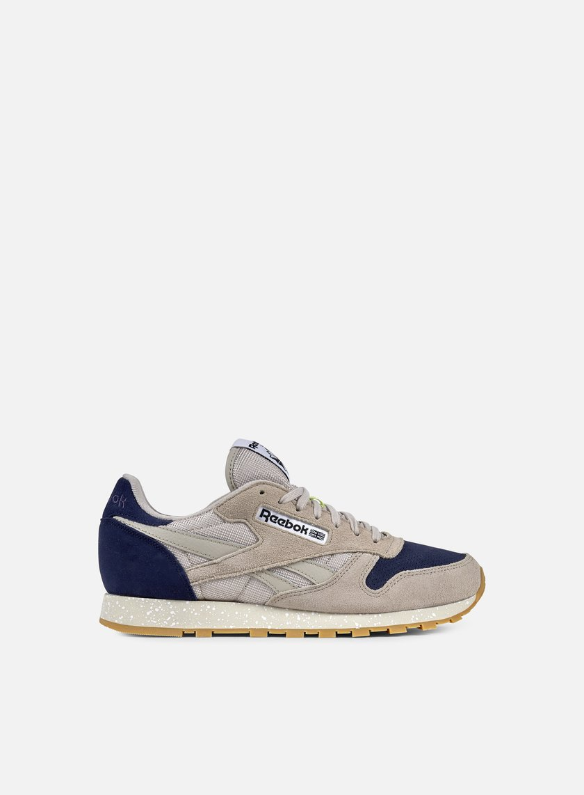Reebok - Classic Leather SM Speckle, Sand Stone/Blue Ink