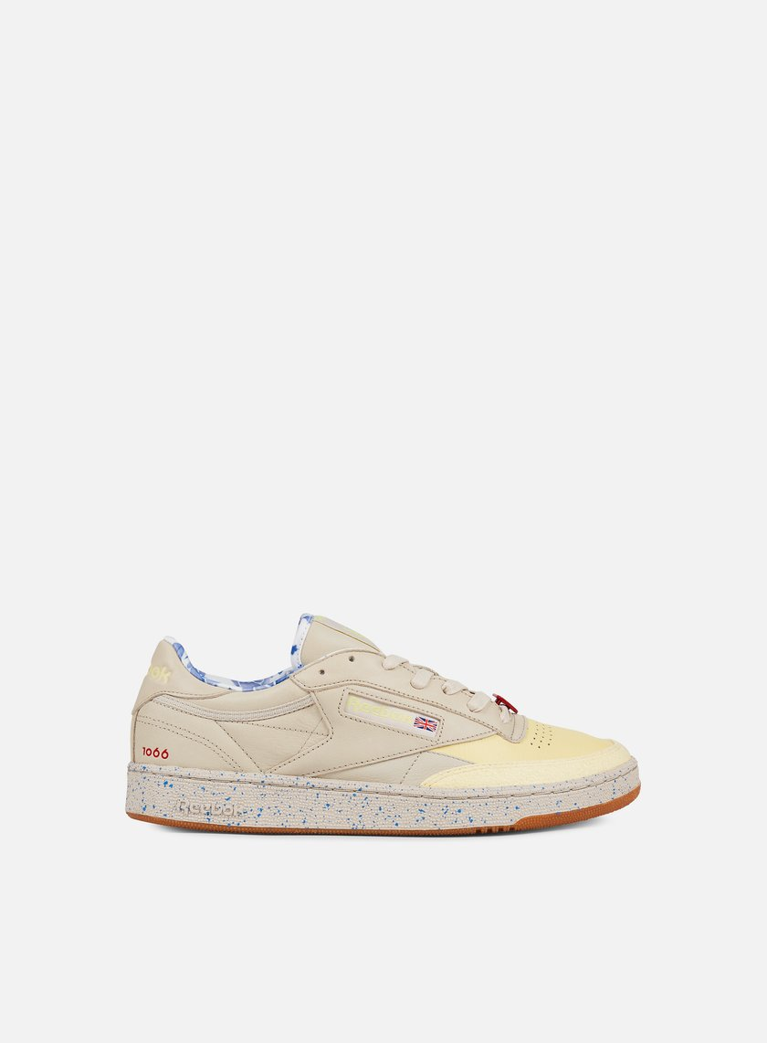 Reebok - Club C 85 AFH, Stucco/Lemon/Blue/Scarlet