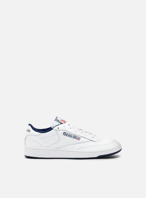 sneakers reebok club c 85 archive white collegiate navy excellent red