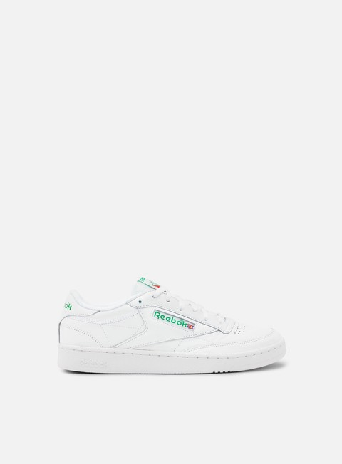 sneakers reebok club c 85 archive white glen green excellent red
