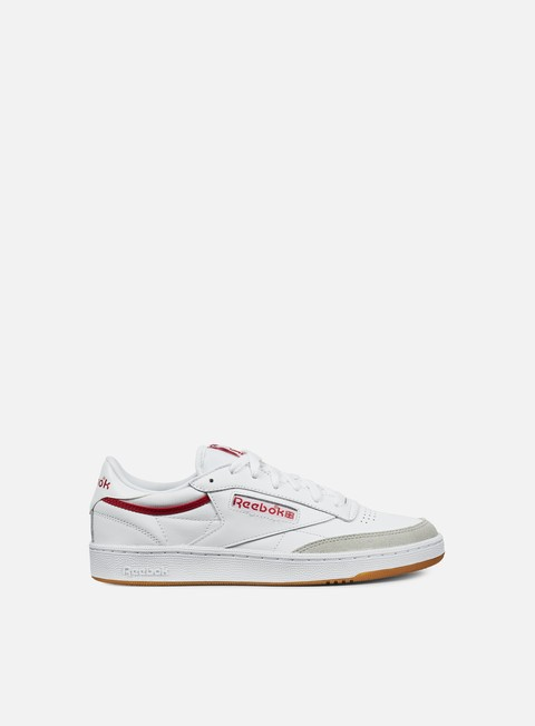sneakers reebok club c 85 cp white grey red gum