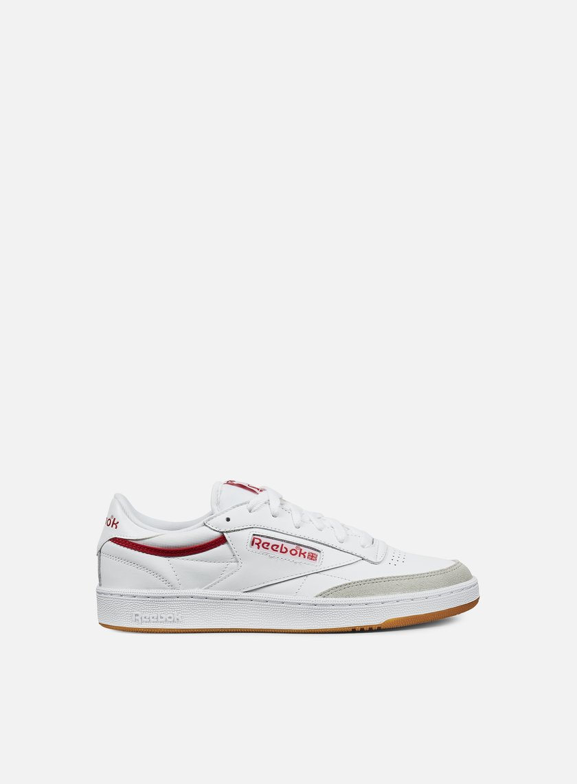 Reebok - Club C 85 CP, White/Grey/Red/Gum